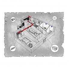 Приточна вентиляція квартири ЖК Корона Дубово, м. Хмельницький (двокімнатна)
