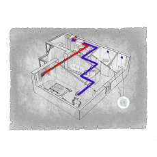 Централізована вентиляція  квартири ЖК Корона Дубово, м. Хмельницький (двокімнатна)