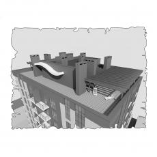 Централізована вентиляція  квартири  ЖК Лайтхаус, вул. Фучика 30, м. Дніпропетровськ( двокімнатна )