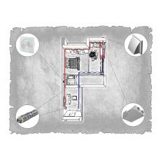 Централізована вентиляція  квартири ЖК Санта Нова  м. Львів ( двокімнатна )