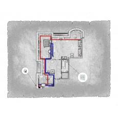 Централізована вентиляція  квартири ЖК Віконт м. Київ ( двокімнатна )