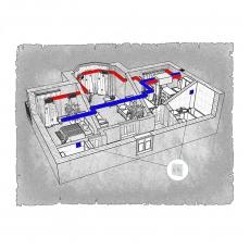 Централізована вентиляція  квартири  ЖК Ярославський м. Бровари ( двокімнатна )