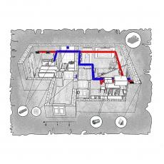 Централізована вентиляція квартири ЖК Затишний, м. Дніпропетровськ, вул. Соціалістична,  ( двокімнатна )