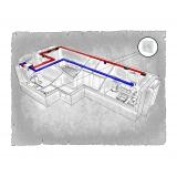 Комплект централізованої вентиляції для двокімнатної квартири (Львів, вул. Демянська) тип2
