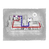 Централізована вентиляція  квартири  на вул.Іващенка 2  м. Луцьк (двокімнатна)