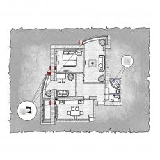 Децентралізована вентиляція  квартири  на вул. 1 Гвардійської армії 21а, м. Чернігів  ( трикімнатна ) тип 2