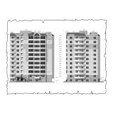 Природна вентиляція  квартири  на вул. 1 Гвардійської армії 21а, м. Чернігів, ( трикімнатна ) тип 2
