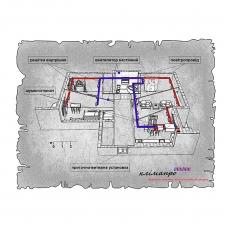 Комплект централізованої вентиляції для чотирикімнатної квартири Львів, вул. Моршинська - Горбачевського