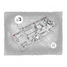 Природна вентиляція  квартири  на  вул. Грибоєдова , м. Ужгород (трикімнатна) тип 2