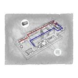 Централізована вентиляція  квартири на  вул. Грибоєдова , м. Ужгород (трикімнатна) тип 2