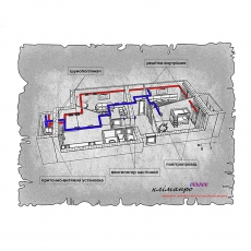 Комплект централізованої вентиляції з підігрівом для трикімнатної квартири (Львів, вул. Рубчака)