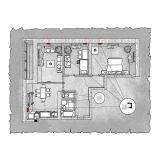 Децентралізована вентиляція  квартири  на вул. Іващенка 2  м. Луцьк (трикімнатна) тип 2