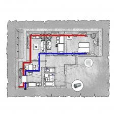 Централізована вентиляція  квартири  на вул.Іващенка 2  м. Луцьк ( трикімнатна ) тип 2
