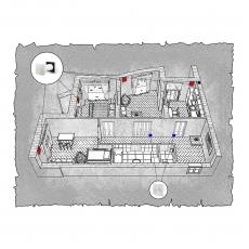 Природна вентиляція  квартири  на Оболонському проспекті, 1  м. Київ, (трикімнатна)