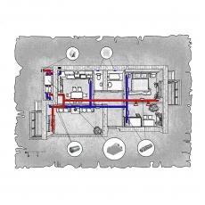 Централізована вентиляція  квартири на вул. Чорновола, м. Суми (трикімнатна)
