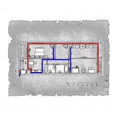 Централізована вентиляція  квартири в  ЖК 21 Перлина, вул. Архітекторська, м. Одеса (трикімнатна)