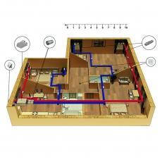 Централізована вентиляція  квартири  ЖК G-HOUSE (Ж-Хаус), м. Київ  (трикімнатна)