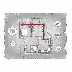 Приточна вентиляція  квартири ЖК Гостинний дім м. Луцьк ( двокімнатна )