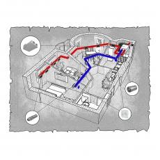 Централізована вентиляція  квартири  ЖК Lux House вул. Соборна 5а м. Рівне ( трикімнатна )