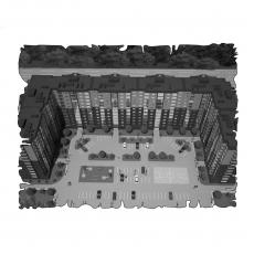 Децентралізована вентиляція  квартири в ЖК Набережний квартал, м. Дніпропетровськ (трикімнатна) тип 2