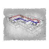 Централізована вентиляція  квартири в ЖК Набережний квартал, м. Дніпропетровськ (трикімнатна) тип 2