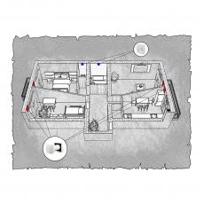 Децентралізована вентиляція  квартири ЖК Затишна оселя, вул. Володимирська, м. Ужгород,  ( трикімнатна ) тип 2