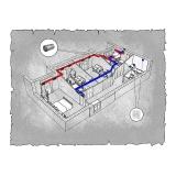 Централізована вентиляція  квартири  на  вул. Північна 115 , м. Хмельницький (трикімнатна)