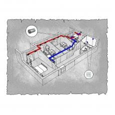 Централізована вентиляція  квартири  на  вул. Північна 115 , м. Хмельницький (трикімнатна