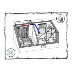 Централізована вентиляція  квартири старого фонду тип 1 (однокімнатна)