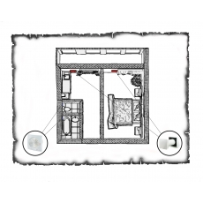 Комплект децентралізованої вентиляції для однокімнатної квартири старого фонду тип 3