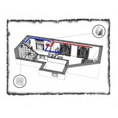 Централізована вентиляція  квартири старого фонду тип 4 (однокімнатна)