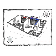 Централізована вентиляція  квартири старого фонду тип 1 (двокімнатна)