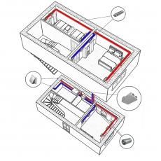 Централізована вентиляція  квартири двоповерхової квартири старого фонду ( трикімнатна )